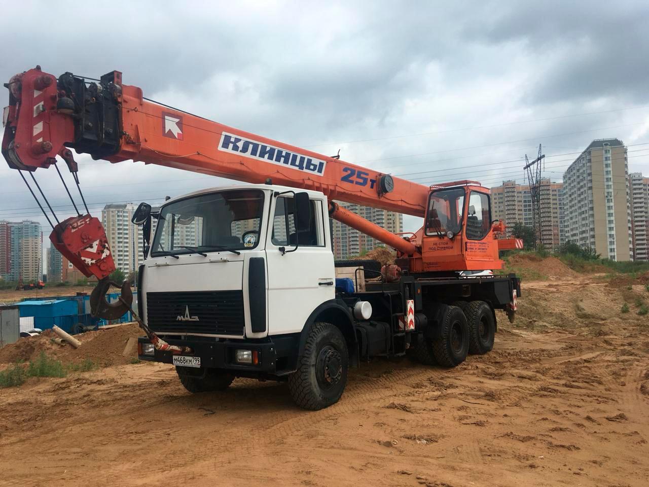 Услуги автокрана 25 тонн 21 метр, Самара