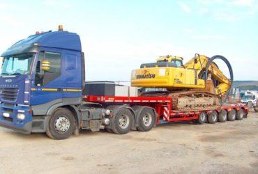 Перевозка негабаритных грузов тралом (аренда трала), Москва и Московская область