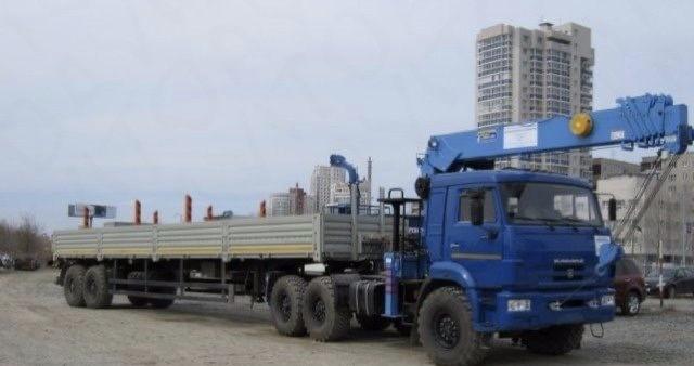 Аренда длинномера, открытый борт, 13.6 м, 20 т — Москва и Московская область